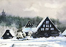 The village in the snow (Shirakawago) 「雪の里」(白川郷)